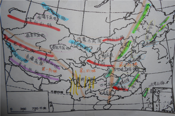 手绘地图大赛,尽显学生风采