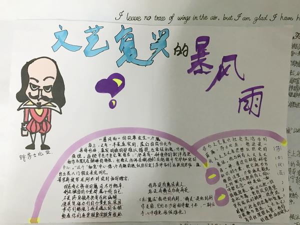 """郑州七中植慧堂读书社开展了""""名著在身边""""手抄报比赛"""